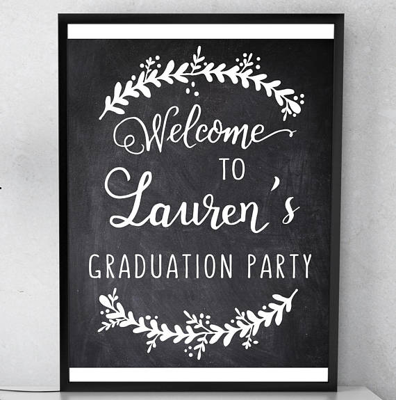 graduation party welcome sign printable graduation welcome grad party decor high school