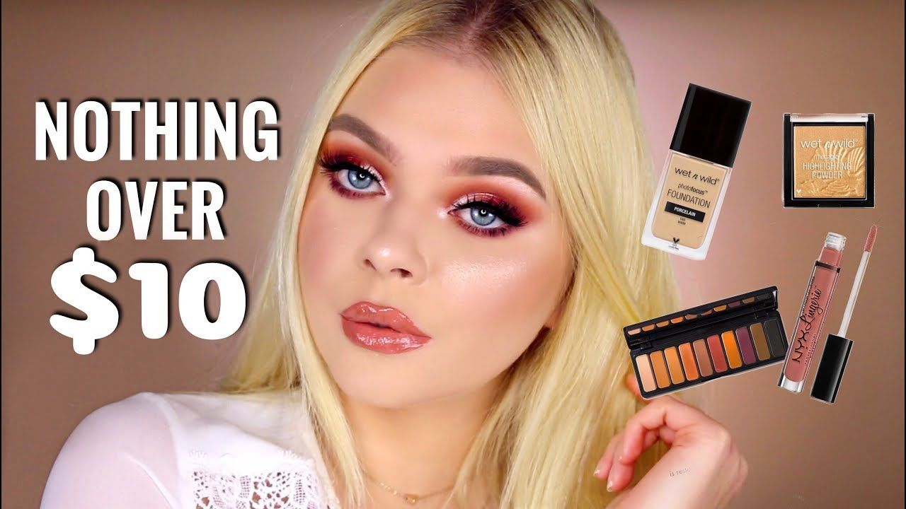 FULL FACE NOTHING OVER 10 Rose Gold Makeup Tutorial
