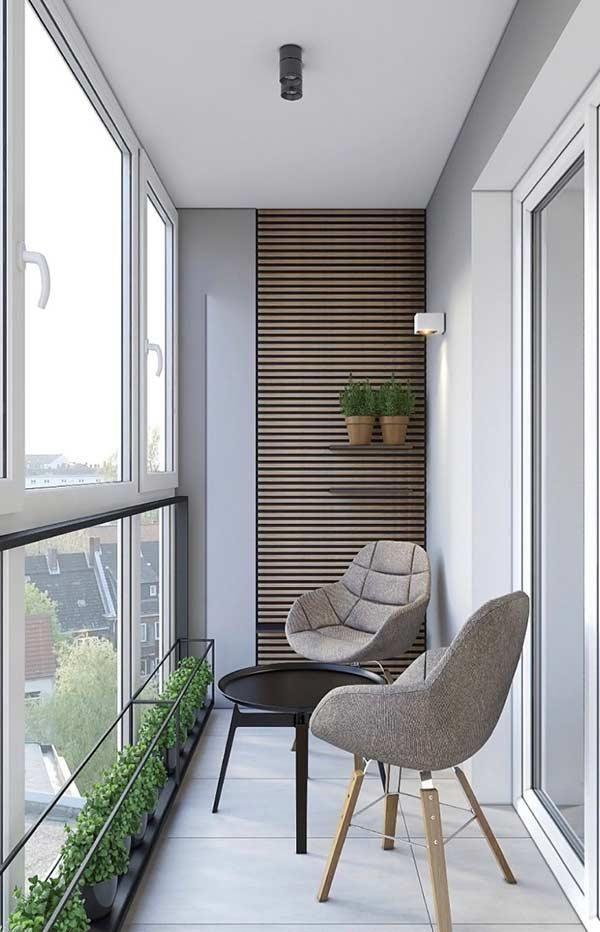 Kleine Balkone: 60 Ideen, um den Raum zu dekorieren und zu optimieren - Neu dekoration stile #smallbalconyfurniture