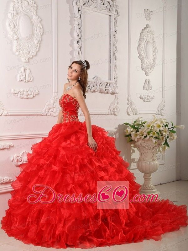 red quinceanera dresses - Google Search | mel15 | Pinterest | Red ...