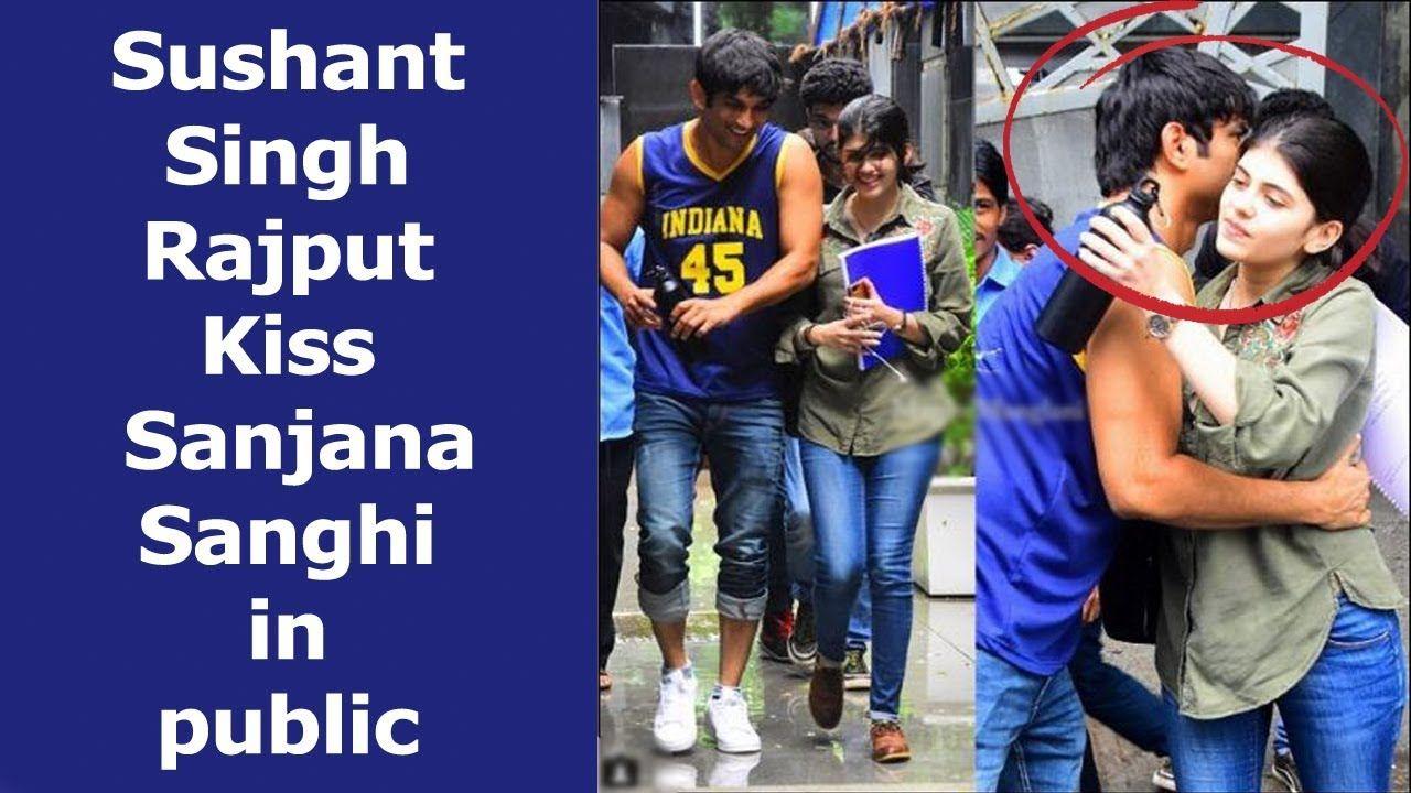 Sushant Singh Rajput Kiss Sanjana Sanghi in Public