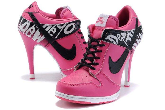 Nike Dunk Hauts Talons De Rose
