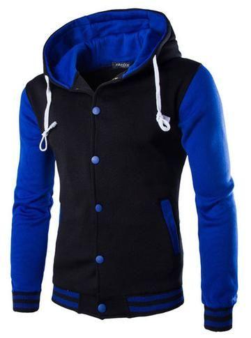 ce798f3b89 Mens Hoodie Baseball Jacket Men 2018 Fashion Design Black Mens ...