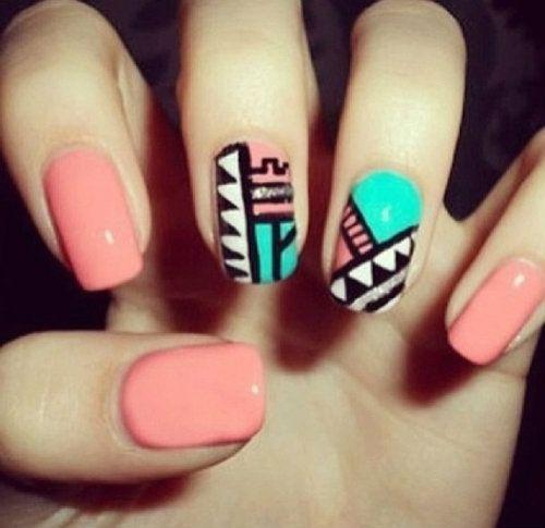 Geometric nails / Geometriese naels