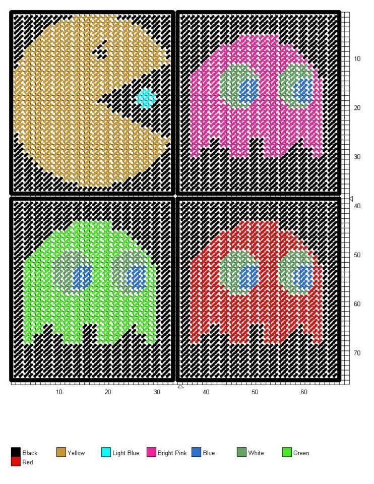 PAC MAN Tissue Box Cover | Plastic Canvas | Pinterest | Stricken und ...