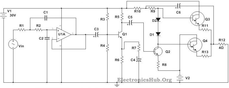 100w Subwoofer Amplifier Circuit Diagram Working And Applications Circuit Diagram Subwoofer Amplifier Subwoofer