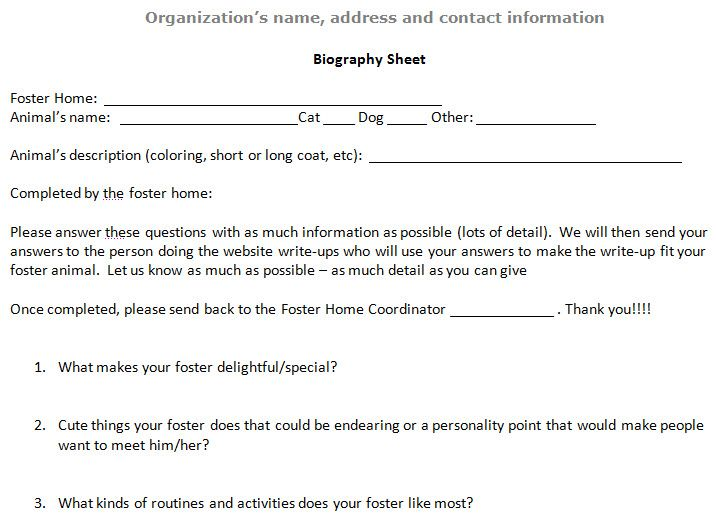 AspcaPro Tip Of The Week Advanced Bio Form To Give Your Foster