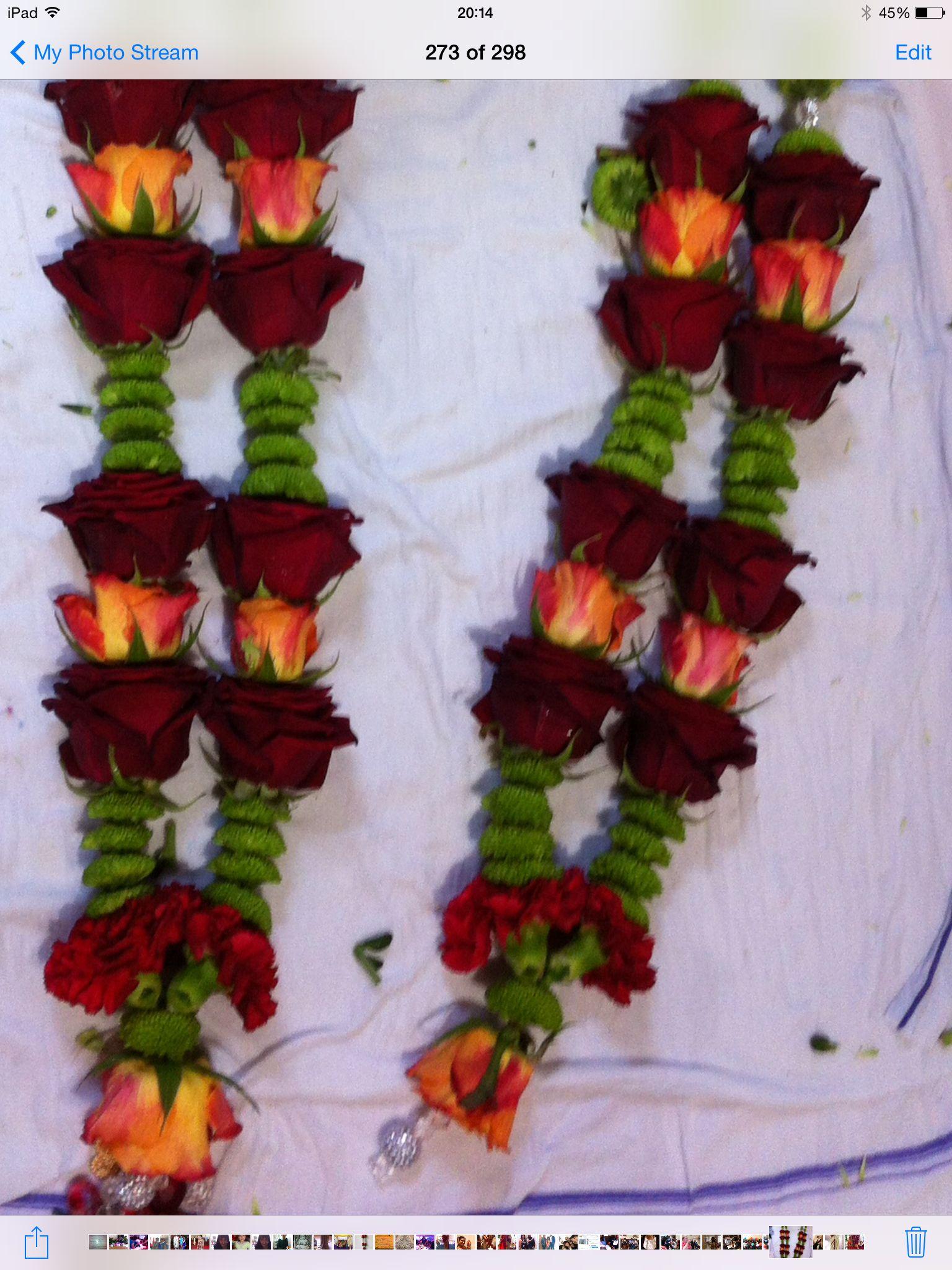 My Creation Hindu Wedding Garlands Flower Jewelry Pinterest