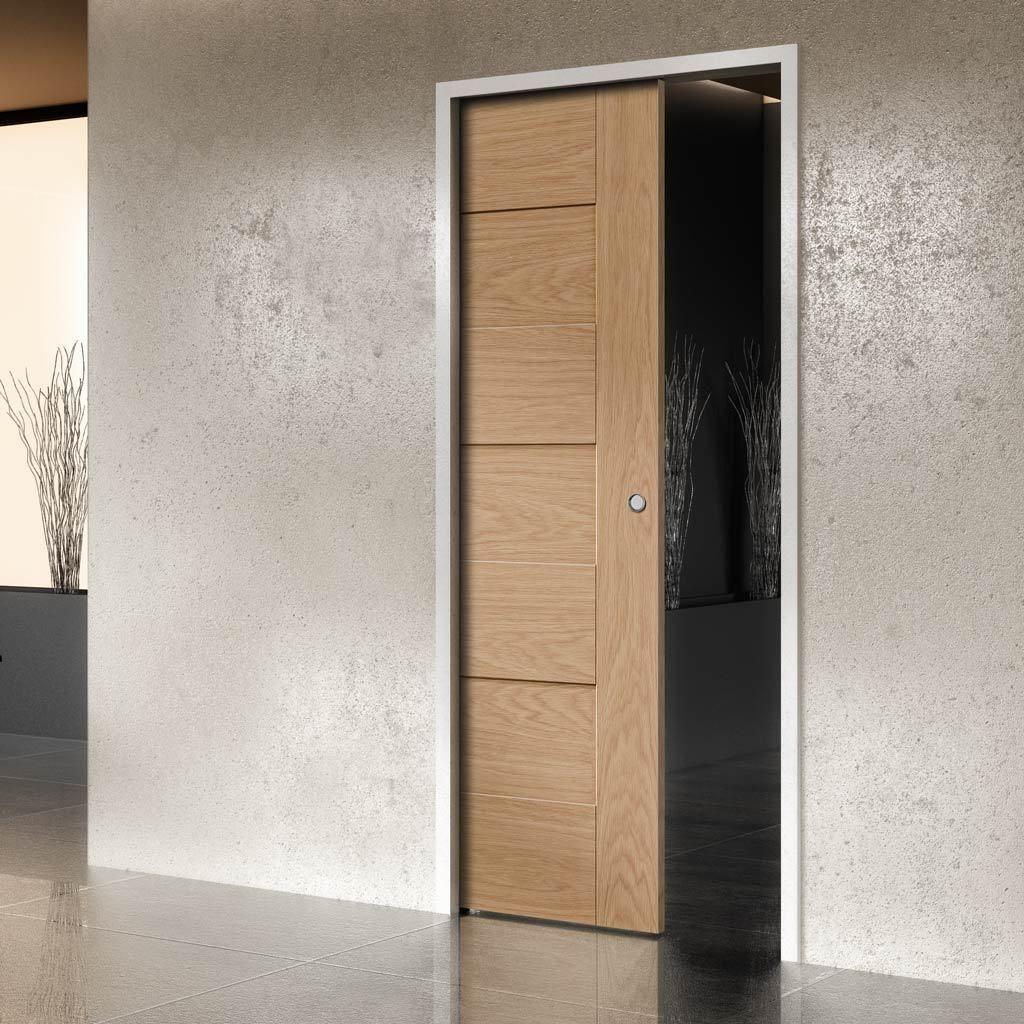 Perugia Oak Evokit Pocket Fire Door 1 2 Hour Fire Rated Prefinished Schuifdeur Deurbeslag