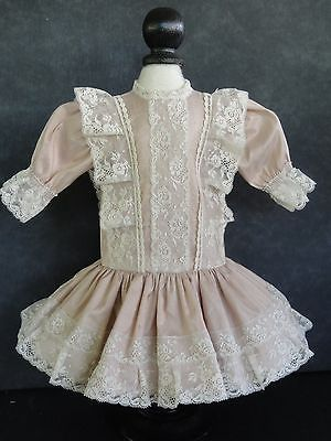 French Doll Dress - Antique Style for Jumeau,Bru. 16-17