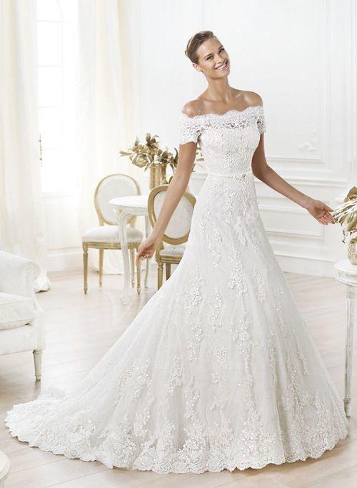 Wedding Dresses - $269.00 - A-Line/Princess Off-the-Shoulder Chapel ...