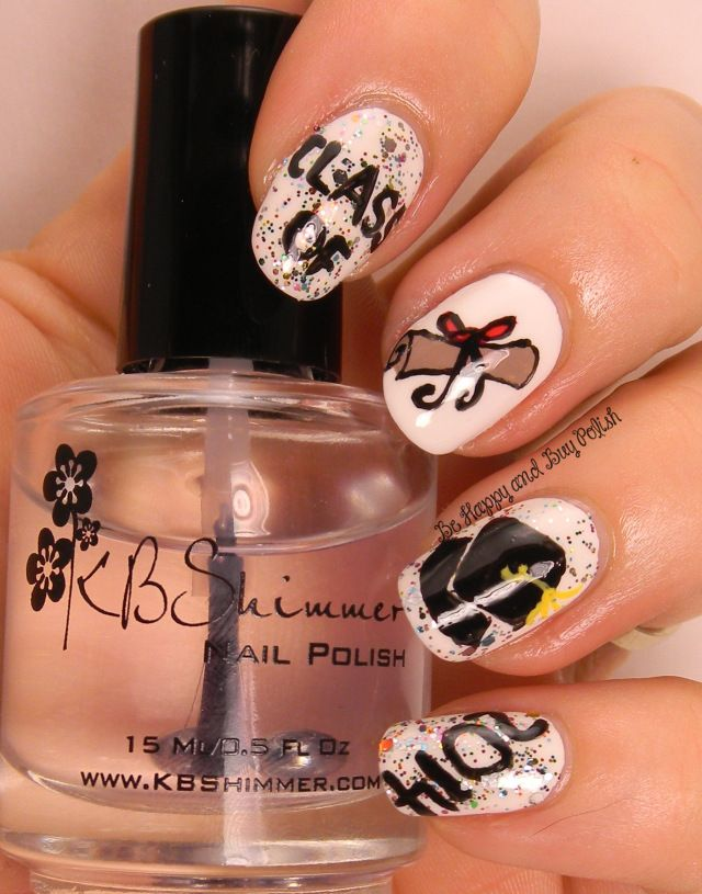 Celebrate The Occasion Nail Art Challenge Graduations Graduation Nails Graduation Nail Art Graduation Nail Designs