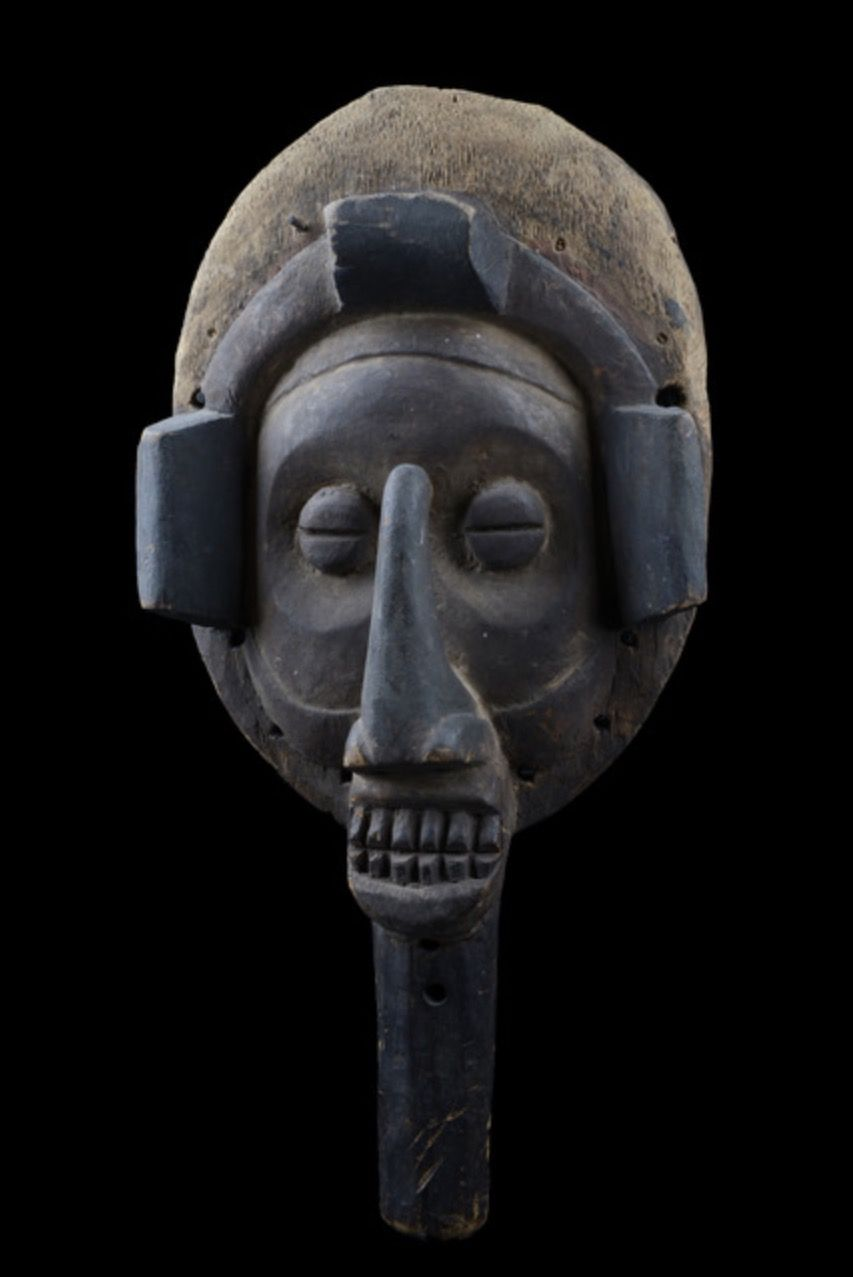 Mask - D.R.Congo, Yaka. Probably used at circumcision rites for young boys, symbolizing fertility and virility.