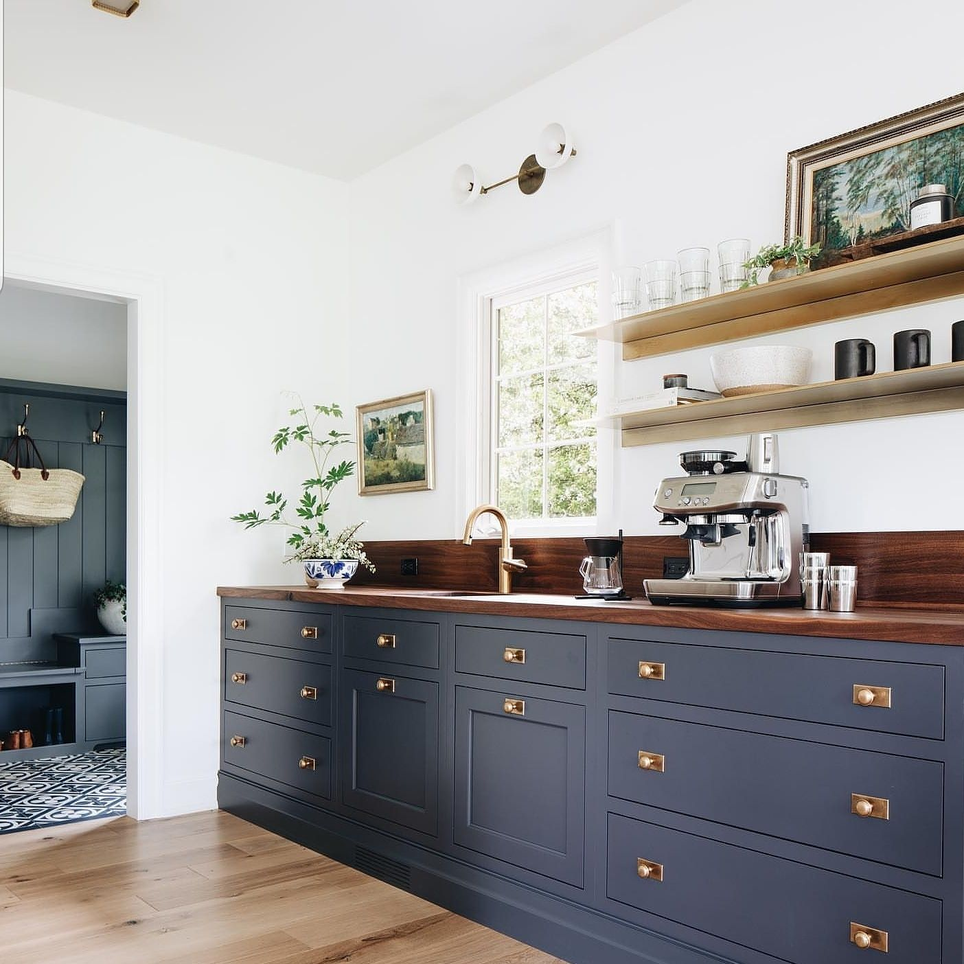 navy cabinets that make us feel some major nautical vibes courtesy of juniperprintshop on kitchen decor navy id=23604