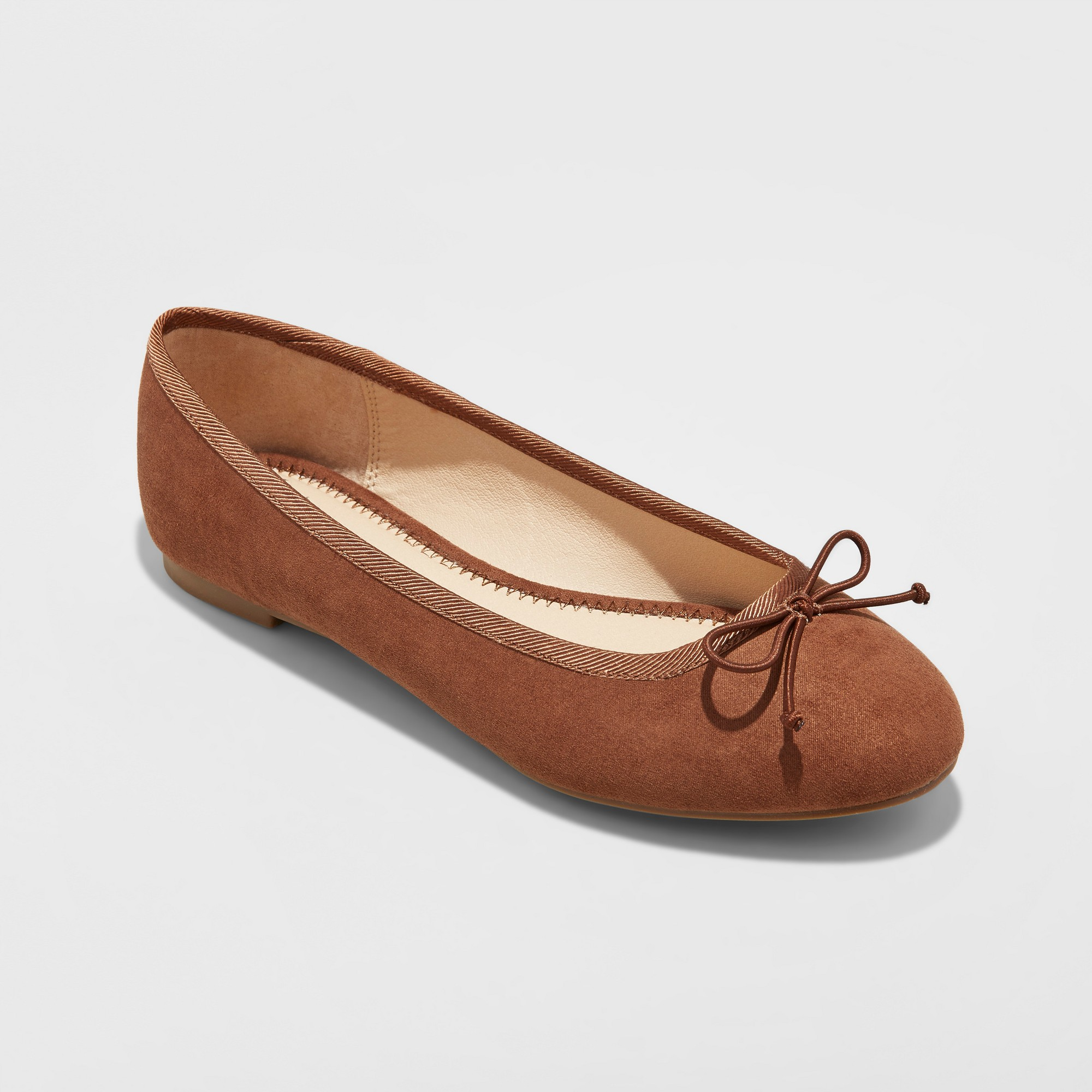 3f5225a0b69c Women s Wide Width Hope Elastic Band Round Toe Mary Jane Ballet Flats - A  New Day Cocoa (Brown) 10W