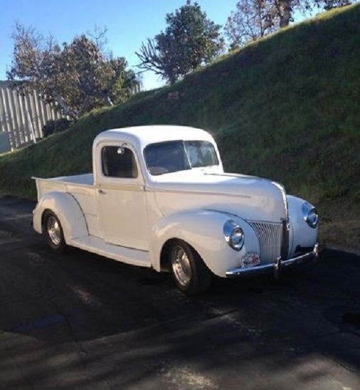 1940 Ford White Pick Up Truck With Images Classic Cars Trucks