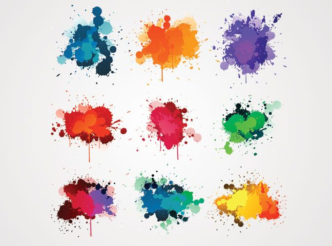 Colorful Ink Splash Vector Free Free Vector Archive Tache