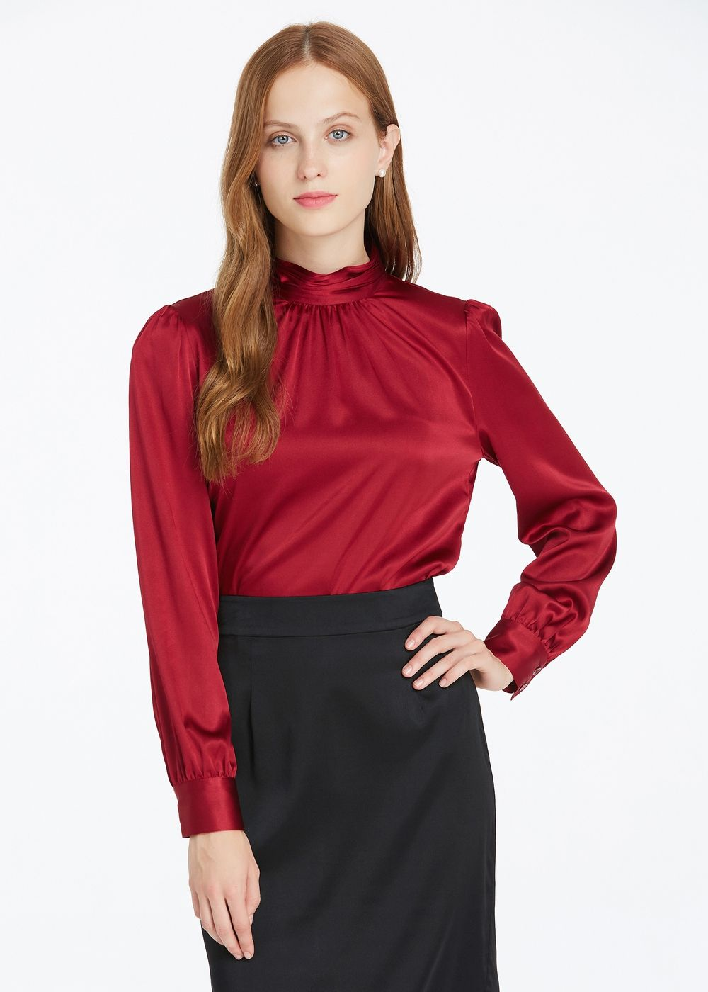 65023c7266484 19MM Retro Style Silk Blouse Hot Sale From Lilysilk