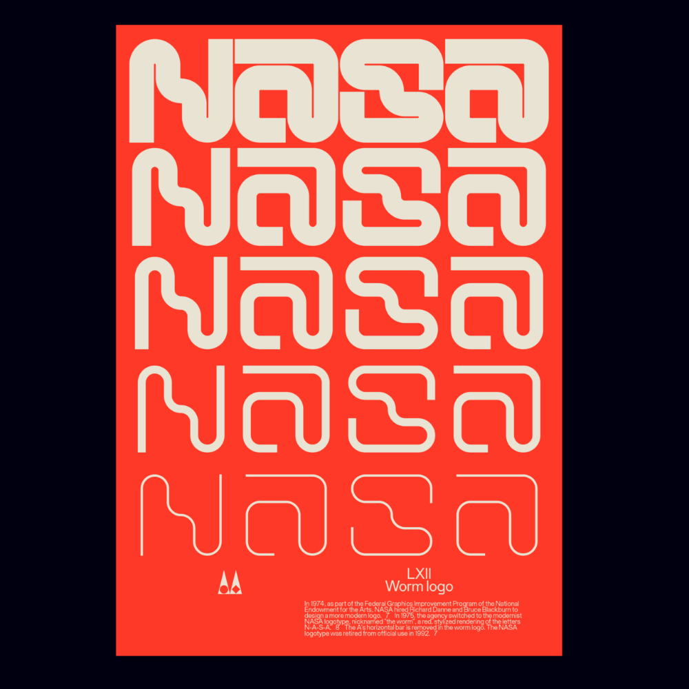 Oddment Nasa graphic design, Nasa poster, Word mark logo