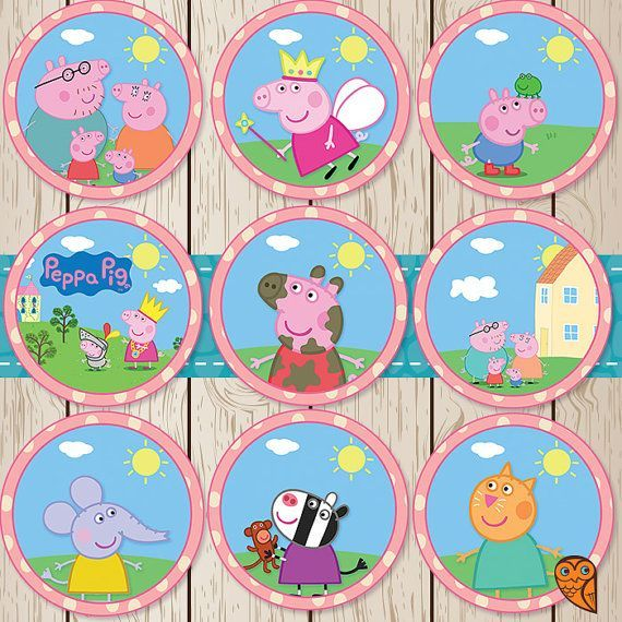 photograph relating to Peppa Pig Printable called Peppa Pig Cupcake Toppers Printable Absolutely free Celebration Tips in just