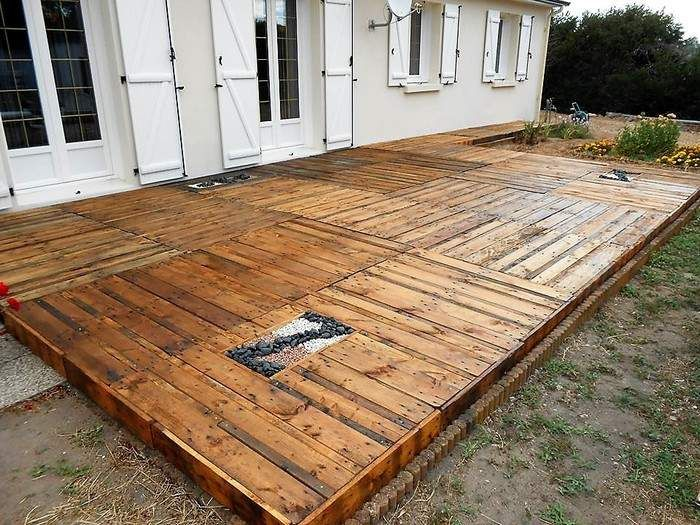 Pallet Outdoor Floor Diy Idea Creation By Bb Palettes Deco3