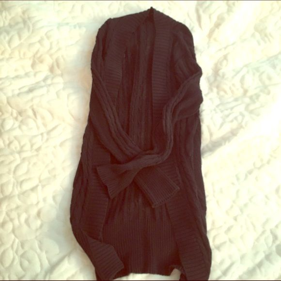 Long Black Cardigan Knit cardigan from Gap. GAP Sweaters Cardigans