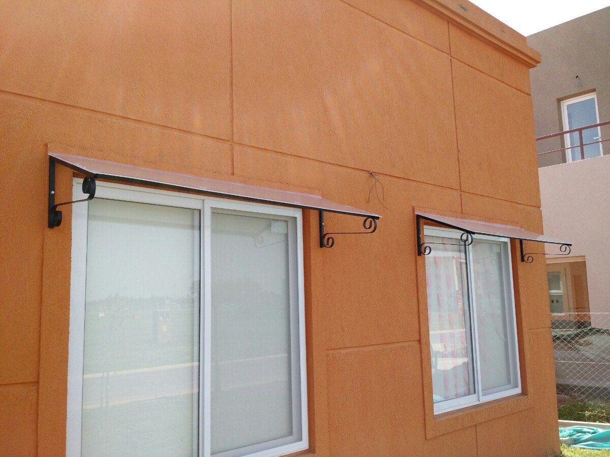 Aleros para puertas y ventanas en hierro y policarbonato - Puertas de hierro para exterior ...