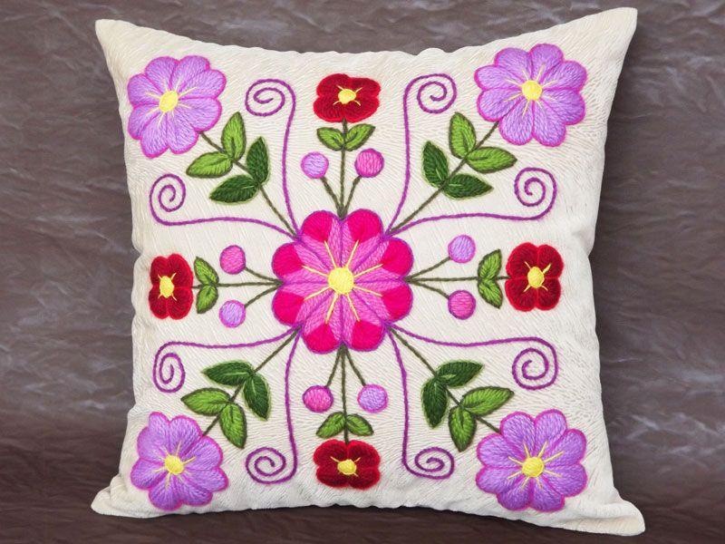 Cojín decorativo CBD080009 | Bordado a mano | Pinterest | Cojines ...