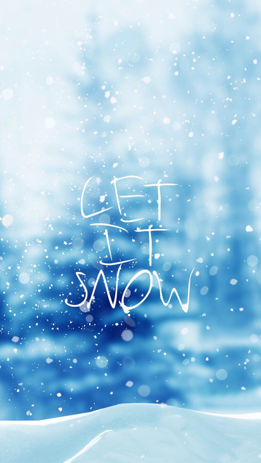 Let It Snow Wallpaper For Iphone And Android Snow Wallpaper Iphone Iphone Wallpaper Winter Winter Wallpaper