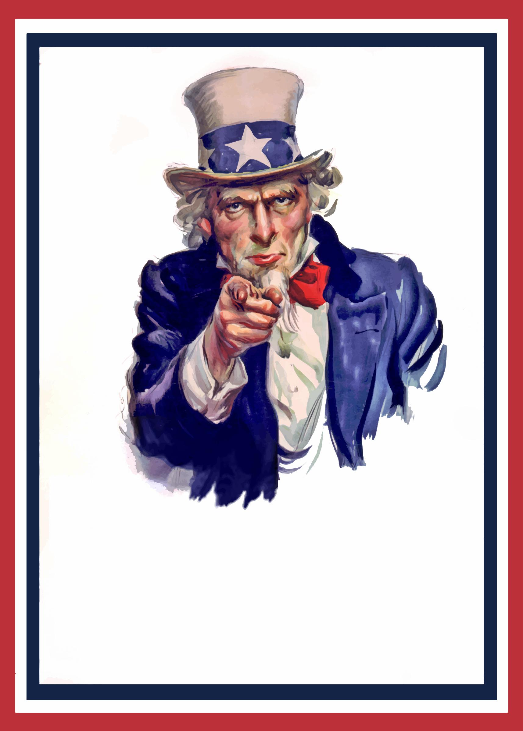 Uncle Sam World War Two Poster Meshkovina