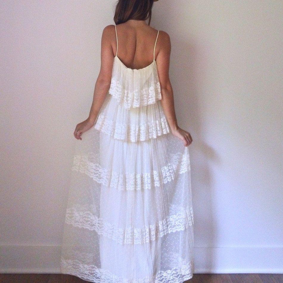 Ethereal pleat maxi dress