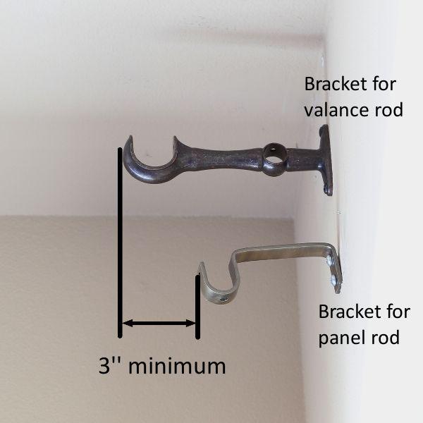 Valance And Curtains Rod Pocket Installation