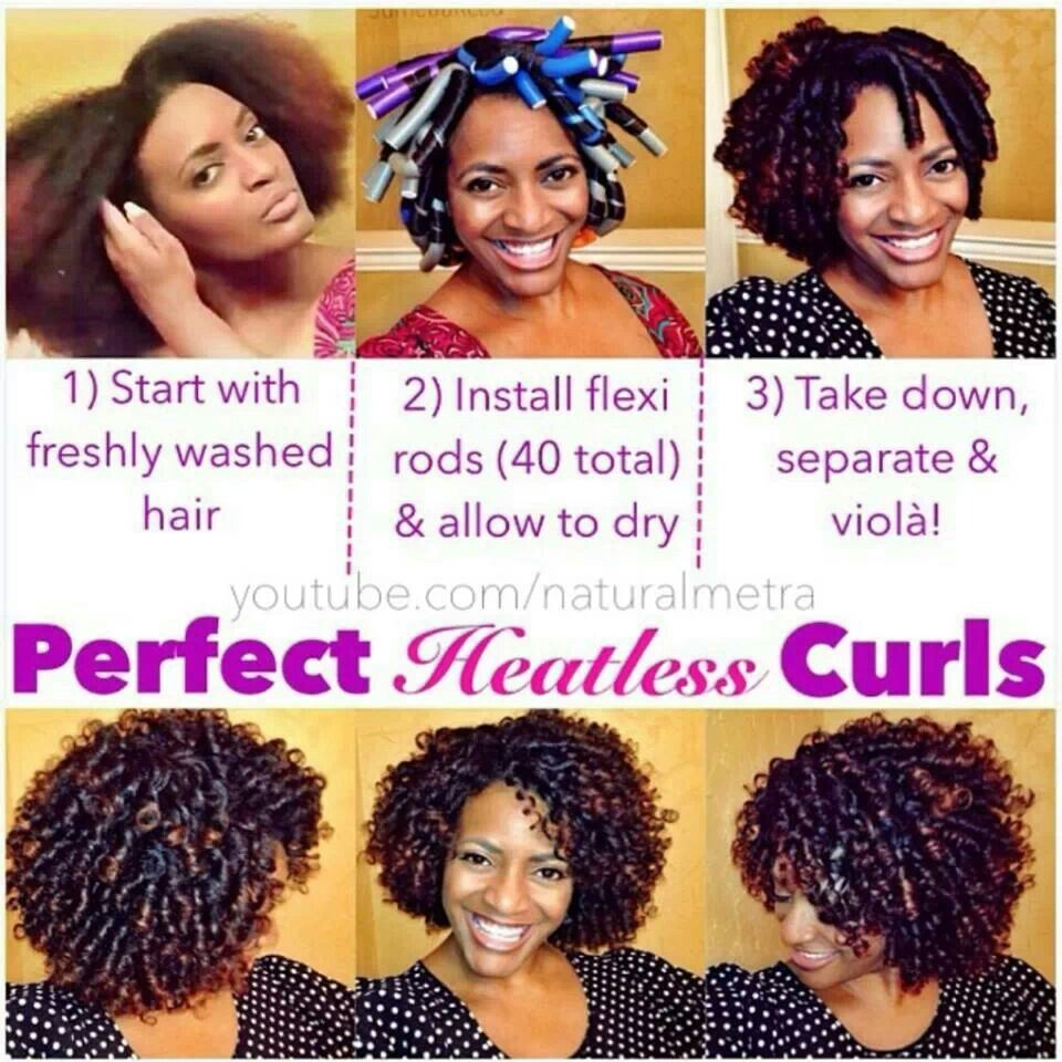 Pin by kellie trott on hair pinterest flexi rods tutorials heatless curls with flexirods baditri Choice Image