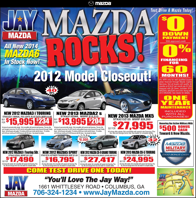Mazda 1 2 Page Newspaper AD