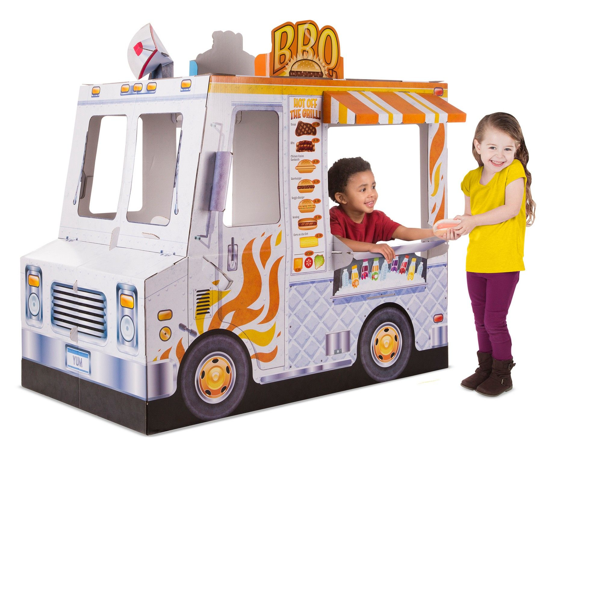Melissa doug food truck indoor corrugate playhouse over