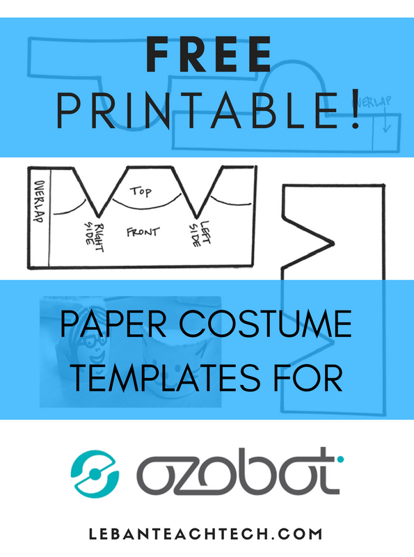Free Printable Ozobot Costume Template