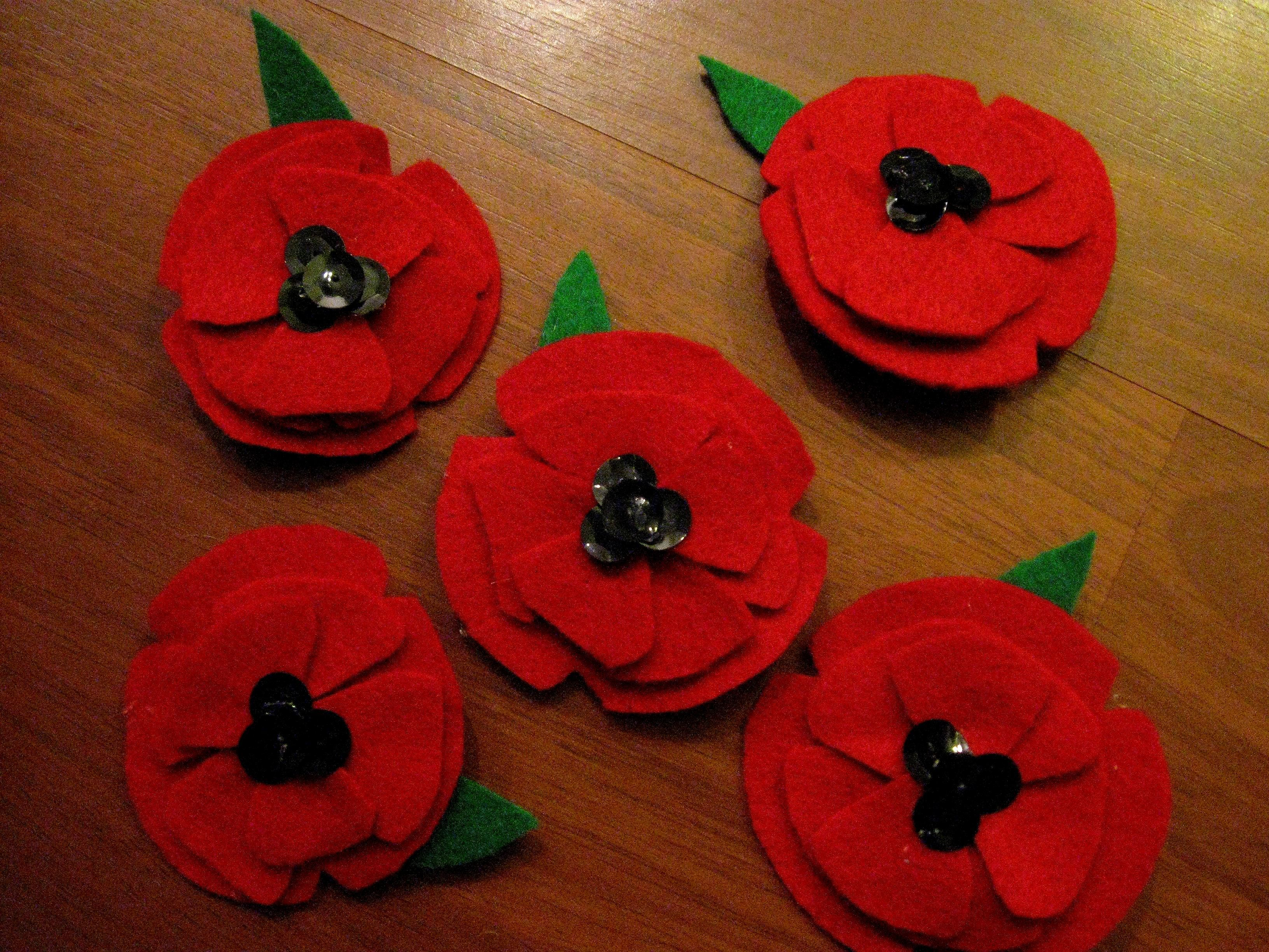 Make Your Own Armistice Day Poppy Pin Pinterest Poppy Pins