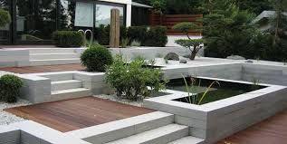 12+ Terrasse mit l steinen Sammlung