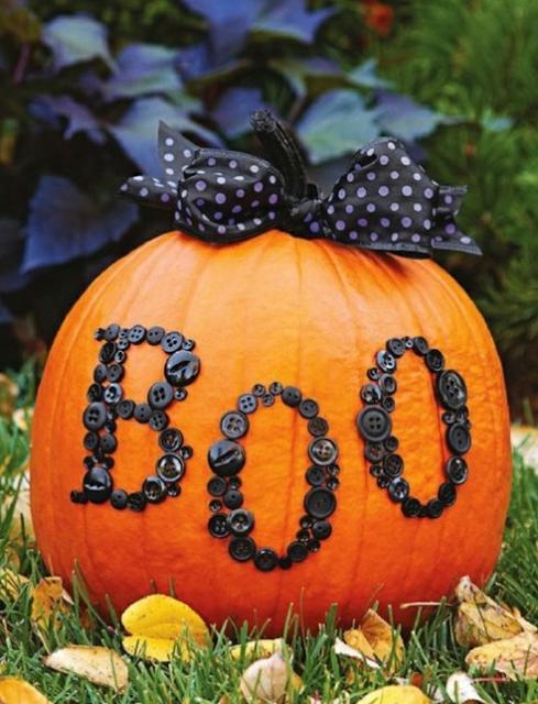 uncarved pumpkins