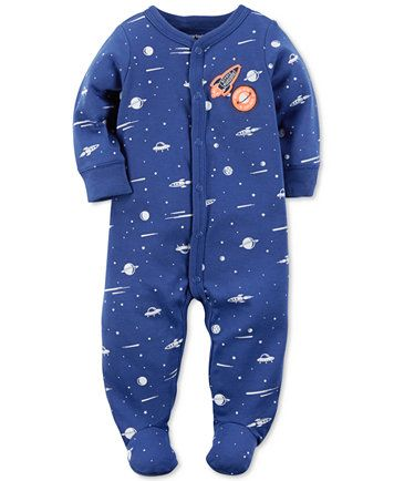 60c99aec80cd Carter s 1-Pc. Space-Print Footed Coverall