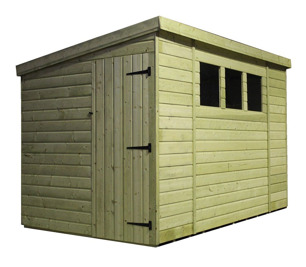 Amusing 10 X 8 Pent Shed Plans With Natural Solid Wood Construction And Single Lockable Door Outdoor Storage Gorgeous Menards G Wooden Sheds Shed Shed Plans