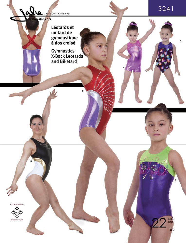 Jalie 3241 X-Back Gymnastics Leotards and Biketard