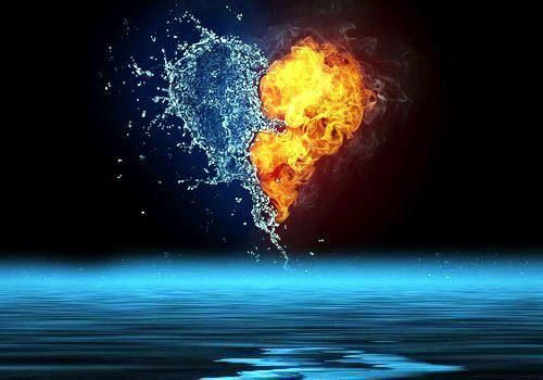 Water Fire Heart Fire And Ice Fire And Ice Wallpaper Wallpaper Astonishing fire and ice wallpapers