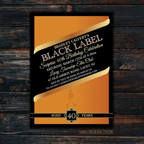 Johnnie Walker Party Invitation Black Label Whiskey
