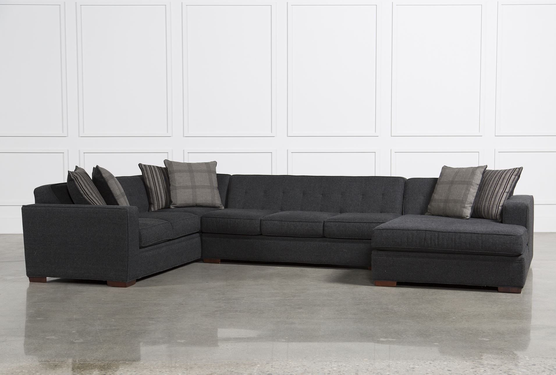 Costello 3 Piece Sectional Optional right chaise option. Lighter ...