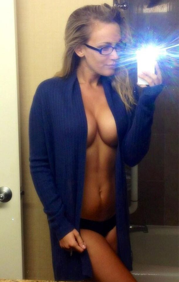 girls with glasses Busty amateur
