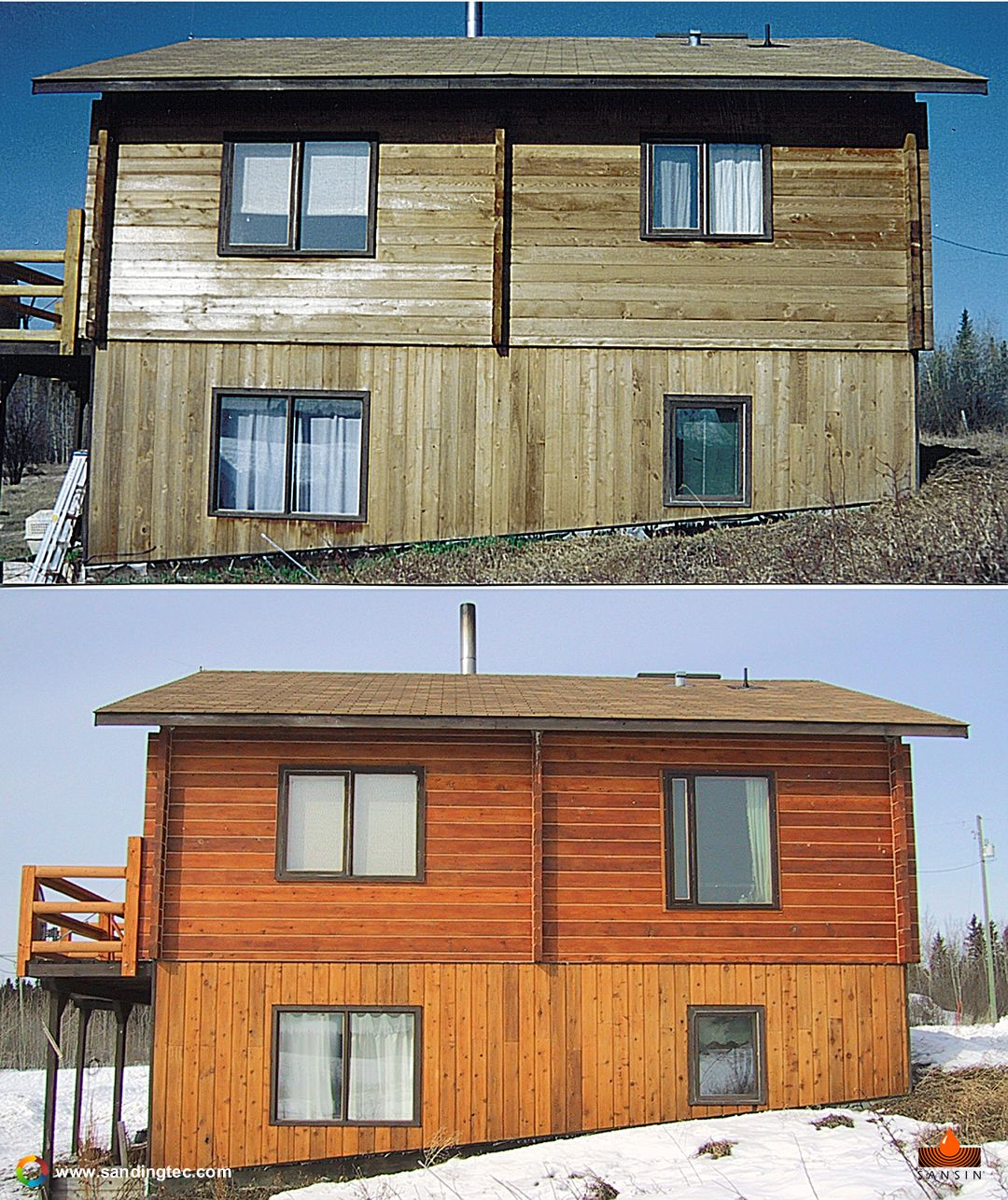 Pin On Log Home Restoration, Before & After