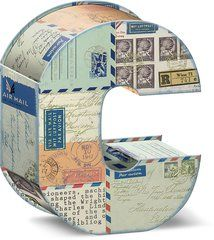 """Modern Impressions Decorative Letter """"C"""" Storage Box With Magnetic Closure"""