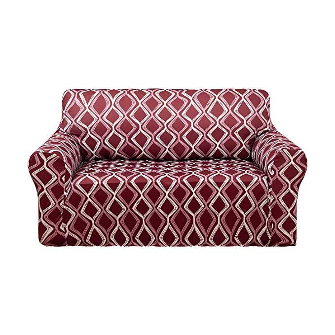 Super Deconovo Trellis Print Sofa Slipcover Spandex Stretch Ncnpc Chair Design For Home Ncnpcorg