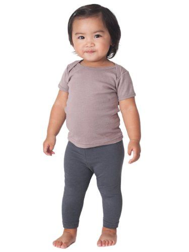 60% Off was $10.00, now is $4.00! American Apparel Unisex-baby Organic Rib Short Sleeve Lap Tee